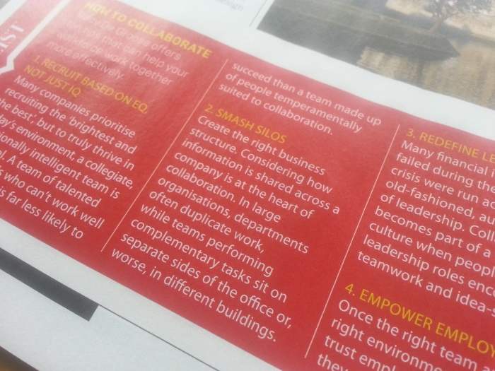 How to collaborate in Business Life Magazine (04/2015)